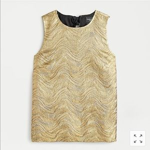 NWT Collection bow-back top in metallic gold XS